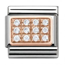 Nomination CLASSIC Rose Gold White Pavé Charm 430301/01