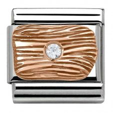 Nomination CLASSIC Rose Gold Stone Set Lines Charm 430303/01
