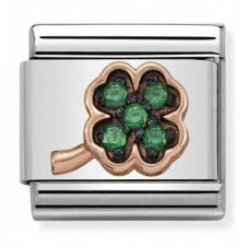 Nomination CLASSIC Rose Gold Symbols Green Clover Charm 430311/02