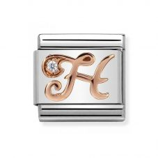 Nomination CLASSIC Rose Gold Letters H Charm 430310/08