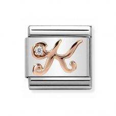 Nomination CLASSIC Rose Gold Letters K Charm 430310/11