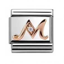 Nomination CLASSIC Rose Gold Letter M Charm 430310/13