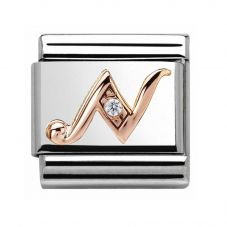 Nomination CLASSIC Rose Gold Letter N Charm 430310/14