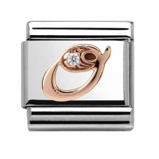 Nomination CLASSIC Rose Gold Letter O Charm 430310/15