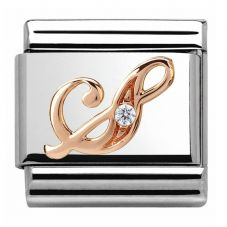 Nomination CLASSIC Rose Gold Letter S Charm 430310/19