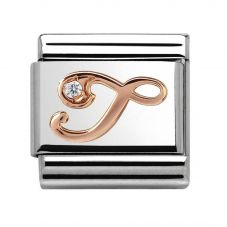 Nomination CLASSIC Rose Gold Letter T Charm 430310/20
