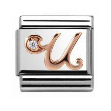 Nomination CLASSIC Rose Gold Letter U Charm 430310/21