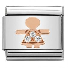 Nomination CLASSIC Rose Gold Symbols Little Girl Charm 430305/07