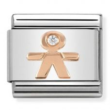 Nomination CLASSIC Rose Gold Symbols Little Boy Charm 430305/08