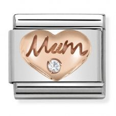 Nomination CLASSIC Rose Gold Symbols Mum Heart Charm 430305/10