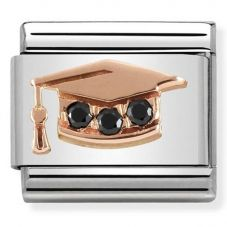 Nomination CLASSIC Rose Gold Symbols Graduation Hat Charm 430305/11