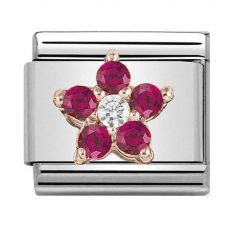 Nomination CLASSIC Rose Gold Red And White Flower Charm 430317/01
