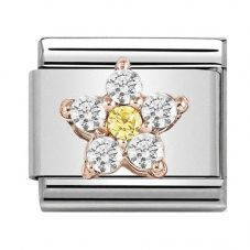 Nomination CLASSIC Rose Gold Yellow And White Flower Charm 430317/03
