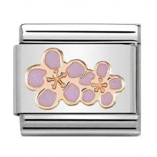 Nomination CLASSIC Rose Gold Peach Blossom Charm 430202/03
