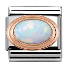Nomination CLASSIC Rose Gold White Opal Charm 430501/07