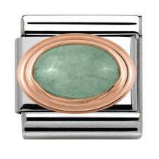 Nomination CLASSIC Rose Gold Green Aventurine Charm 430501/23