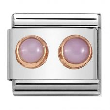 Nomination CLASSIC Rose Gold Double Pink Opal Charm 430506/22