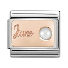 Nomination CLASSIC Rose Gold June White Pearl Charm 430508/06