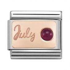 Nomination CLASSIC Rose Gold July Ruby Charm 430508/07
