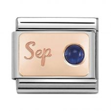 Nomination CLASSIC Rose Gold September Sapphire Charm 430508/09