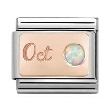 Nomination CLASSIC Rose Gold October White Opal Charm 430508/10
