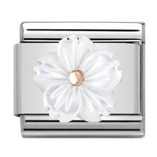 Nomination CLASSIC Rose Gold Mother Of Pearl Flower Charm 430510/02