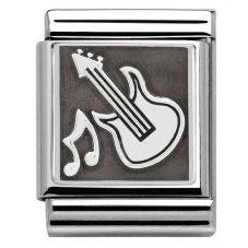 Nomination BIG Silvershine Guitar Charm 332110/01
