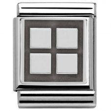 Nomination BIG Silvershine Four Squares Charm 332110/06