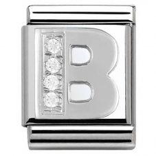 Nomination BIG Silvershine Alphabet B Charm 332301/02