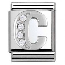 Nomination BIG Silvershine Alphabet C Charm 332301/03