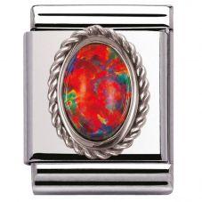 Nomination BIG Silvershine Ornate Red Opal Charm 032510/08