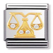 Nomination BIG Gold Libra Zodiac Charm 032302/07