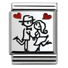 Nomination BIG Silvershine Couple In Love Charm 332203/03