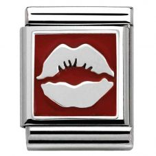 Nomination BIG Silvershine Red Lips Kiss Charm 332203/07