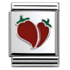Nomination BIG Silvershine Red Chilli Heart Charm 332201/04