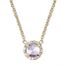 Crislu Ladies Micro Pavé Brilliant Purple Necklace 309976N16LA