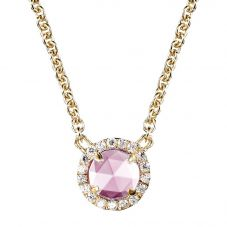 Crislu Ladies Micro Pavé Brilliant Pink Necklace 309976N16PI