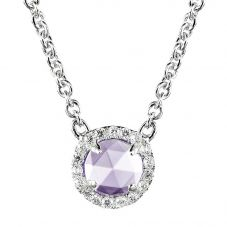 Crislu Ladies Micro Pavé Brilliant Purple Necklace 909976N16LA