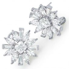 Crislu Ladies Bursting Flower Earrings 9010434L00CZ