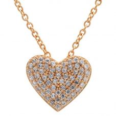 Crislu Simply Pavé Heart Necklace 8010442N16CZ
