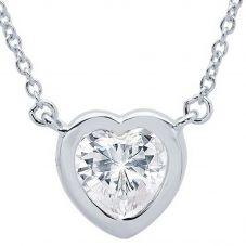 Crislu 'Hearts by CRISLU' Large Stone Necklace 9010438N16CZ