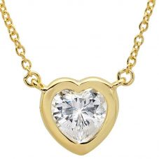 Crislu 'Hearts by CRISLU' Large Stone Necklace 3010438N16CZ