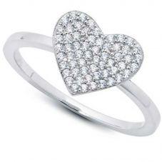 Crislu 'Simply Pavé' Heart Ring 9010442R60CZ