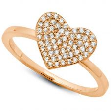 Crislu 'Simply Pavé' Heart Ring 8010442R60CZ
