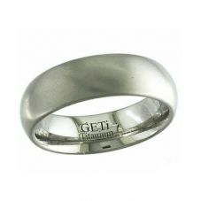 GETi 7mm Plain Satin Round Edge Ring 2204-7C