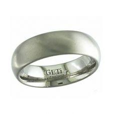 GETi 7mm Plain Satin Round Edge Ring 2204-7C
