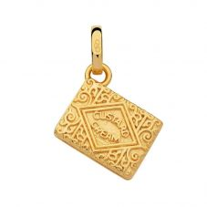 Links of London British Tea Gold Vermeil Custard Cream Biscuit Charm 5030.2537