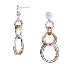 Links of London Aurora Three Colour Cluster Link Dropper Earrings 5040.2226