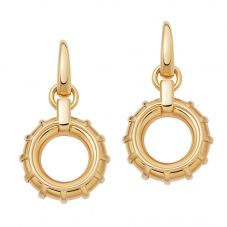 Links of London Brutalist 18ct Gold Vermeil Caged Circle Drop Earrings 5040.3386