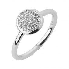 Links of London Diamond Essential Silver Round Pavé Ring 5045.548R
